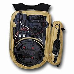 Ghostbusters Proton Pack Backpack - Always be prepared for a trans-dimensional rift of epic proportions, or to take stuff places, at the very least.Materials: 80% polyurethane 20% polyester