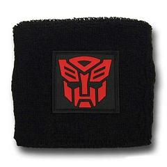 Transformers Autobot Symbol Wristband - They don't transform into a car or a truck but they do keep you cooler, under heavy Deceptacon attack.Materials: 75% Cotton, 10% Nylon, 15% SpandexFeaturing a stitched, rubber, Autobot symbol. One size fits most.