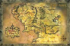 Lord of the Rings Middle Earth Map - This landscape map of Middle Earth shows its landscape in all its glorious… landscape. Well, you'll never get lost there again, that's for sure; unless you want to of course.61cm X 91.5cm
