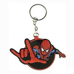 Spider-Man Thwipp Keyring - Just like you, Spidey's always on the go. Head out together, with this 7.6cm across and 5cm high, rubber keyring, with Spider-Man sporting his classic red and blue suit. Watch out for webbing though, okay? 'Cause he's raring to go.
