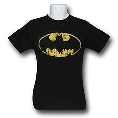 Batman Distressed Symbol T-Shirt - 100% cottonColour: Black