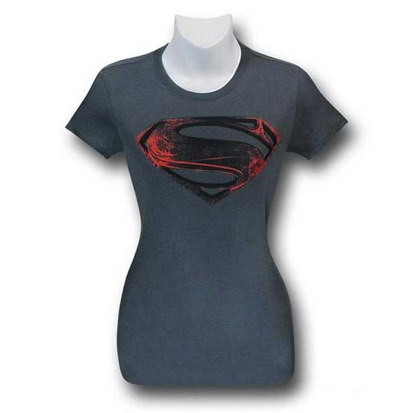 Man of Steel Ladies Fitted Shirt