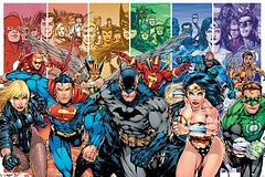 Justice League Heroes Poster - They're strong, they're fast and there's plenty of 'em. DC's ultimate team of superheroes are a great addition to any true lair's walls.Standard poster size: 61cm x 91.5cm