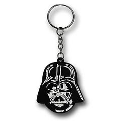 Darth Vader Helmet Keyring - The Star Wars Darth Vader Helmet PVC keyring measures 5cm in length. It's light enough to carry your keys around on and it's filled with enough of the Dark side of the Force to handle any lock you have a key for. Guaranteed.Colour: Black and white