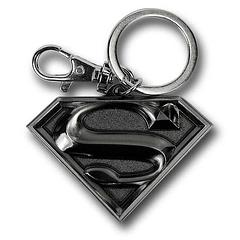 Superman Silver Symbol Keyring - Solid, heavy and not easy to damage. Sound like the Big Guy? Well it also describes The Superman Silver Symbol Pewter keyring, which  measures 5cm in length and 9.9 on the Cool-o-meter.