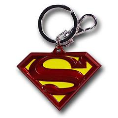 Superman Keyring: Red Symbol - The Superman Symbol Colour Pewter keyring measures 6.5cm in length and sports the colours of the original Superman emblem. For those who cherish the classics. A Superman key chain that truly looks the part, given that it sports the symbol of the Man of Steel himself.Colour: Red and yellow