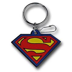 Superman Keyring: Rubber Symbol - Measuring 5.5cm across, this Superman Symbol keyring won't scratch your phone if they share a pocket, but it will keep your keys safe from most things. Not 100% Kryptonite proof.