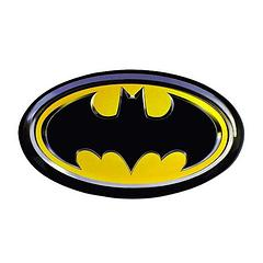 Batman Symbol Colour Magnet - The Batman Symbol Colour Magnet measures approximately 10cm wide and is perfect for keeping things pinned up against a wall (just like Batman does to bad guys). He doesn't pin many villains to fridges though… hmmm… but this magnet does. So it's like, even better than Batman. Wow.