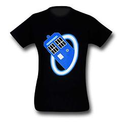 Doctor Who T-Shirt: Portal - You won't know whether the Doctor is coming or going – and let's face it, he's often doing both – when you're wearing the Doctor Who Tardis Portal, 30, Single, T-Shirt. It's made from 100% cotton and possibly the fabric of the space-time continuum. Love Doctor Who? Let the Tardis be with you, or through you, as this unique design would prefer it.