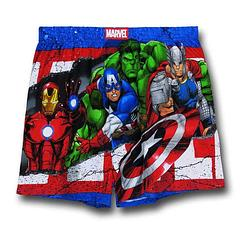 Avengers Knit Boxers - The Avengers Modern Heroes Knit Boxers are made from 100% cotton. You probably won't be the envy of all your friends by buying these, but you'll know you have them and that's cool enough.Important: Due to hygiene and health reasons, we are unable to accept returns on underwear, so please choose carefully.