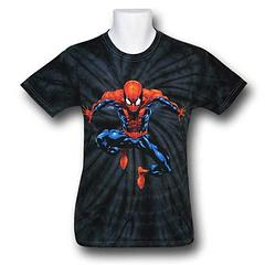 Spider-Man Tie-Dye T-Shirt - Hang about, or swing away, the decision is yours. The Spider-Man Tie-Dye Cling T-Shirt is made from 100% cotton.