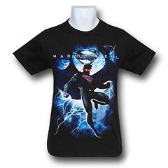 Superman Lightning T-Shirt - Zod's got nothing on a guy that can ride the lightning like it's static from a library carpet. The Superman Man of Steel Lightning T-Shirt is made from 100% cotton. Let's hear it for our adopted son from Krypton.