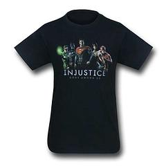 Injustice League Line-Up T-Shirt - The Gods are Among us, and they came to play. Long live the epic battle scenes of the game, as well as the awesome characters depicted here. The Injustice League Line-Up Black T-Shirt is made from 100% cotton.Colour: Black