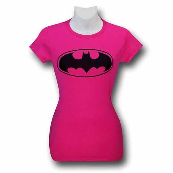 Batman Symbol Women\'s Pink T-Shirt