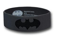 Batman Symbol Wristband - In the colours of what some consider to be his ultimate costume, this Batman Symbol rubber wristband does credit to all fans of The Dark Knight.Colour: Black and GreyOne size fits most.