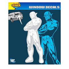 Flash New 52 Car Decal - Talk about the thrill of leaving your foes in the dust, the Flash is the fastest man alive, he knows all about it. This DC New 52 Car Decal will be much better than a stick figure to represent you on your rear window, and larger too; standing at 21.6cm tall and 8.25cm wide. You'll dominate the streets, much like the scarlet Flash, himself does.