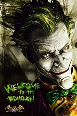 Joker Poster: Arkham City - Let the Joker welcome people to your madhouse, with this fiendishly wicked portrait Joker Poster. Batman may want to steer clear of your place for a while; just FYI.Standard Poster size: 61cm x91.5cm.