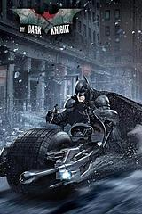 Batman Bike Poster - Catch him if you can. Going fast and willing to share his ride with Catwoman, but only if she doesn't charge the petrol to Wayne Enterprises. A dark yet fun poster of Batman on the way to save Gotham, no doubt.Standard Poster size: 61cm x91.5cm.