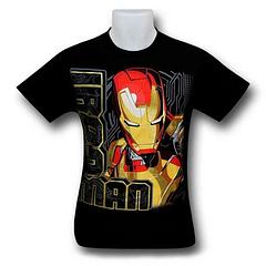 Iron Man T-Shirt: Kids Side Glance - The Iron Man Side Glance Kids T-Shirt is made from 100% cotton and will probably get you as many stares as you get glances… because it's Iron Man, right?Colour: Black