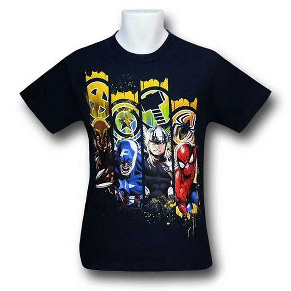 Marvel Heroes T-Shirt: Lineup Kids