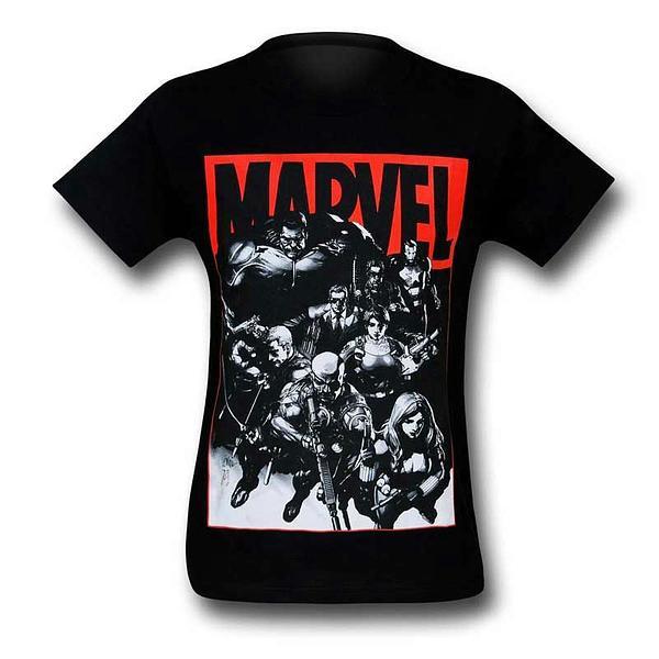 Marvel T-Shirt: Armed Heroes