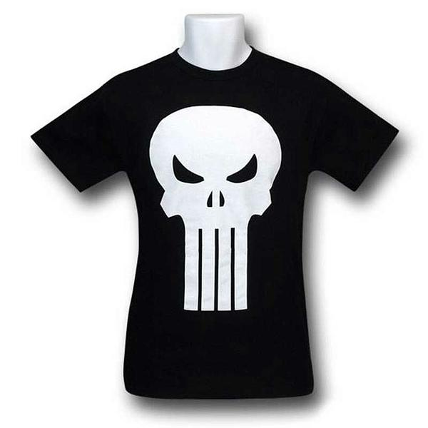 Punisher T-Shirt: White Skull