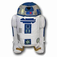 R2-D2 Backpack Buddy - The Star Wars R2-D2 Backpack Buddy will follow you into many an adventure, while helping you out by carrying essential items. R2 measures approximately 48cm high, 33cm wide, and 23cm from front to back and the storage compartment is approximately 30cm deep. He may not be able to help you fire on the Death Star (either one), but he sure can carry a water bottle and chocolates as though it was built into his core programming. Plus he's so cute....