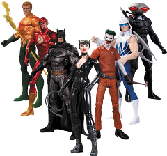 DC Heroes Vs Villains: 7-Pack - Jump right into the battle between good and evil with the DC New 52 Super Heroes Vs Super-Villains Action Figure 7-Pack. These articulated figures stand 6cm tall and have been designed by some of the best in the biz. Let Batman, The Flash, Aquaman, Catwoman, The Joker, Captain Cold and Black Manta bring the action to you.