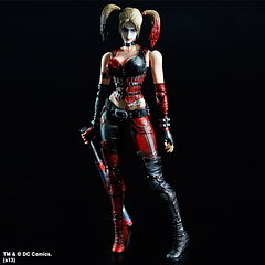 Harley Quinn Figure: Play Arts - With two sub-machine guns and a Harley-style baseball bat, this Harley Quinn Figure, of the Square Enix, legendary Play Arts Kai series, can hammer any and all comers into the ground.Based on the awesome game, 'Arkham City', this Harley Quinn figure measures in at over 20cm (8