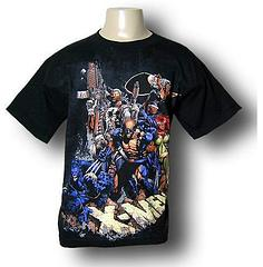 X-Men Youth Warrior T-Shirt by David Finch - A cool X-men line up if ever there was one. The X-Men Youth Warriors by David Finch T-shirt is made from 100% cotton.Colour: Black