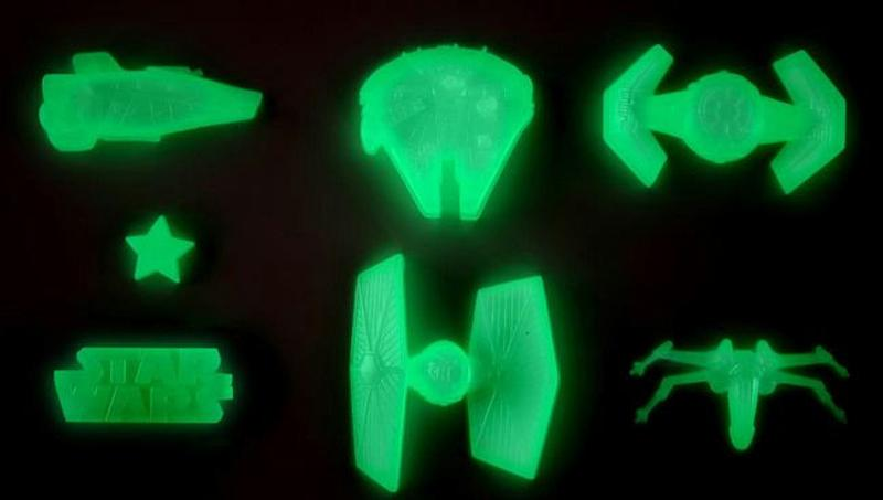 Star Wars Glow in the Dark Shapes