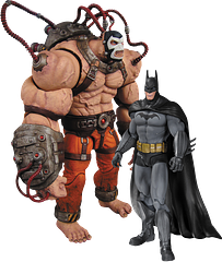 Batman Figures: Bane vs Batman - This incredibly detailed action figure 2-pack features the Arkham Asylum versions of Bane and Batman, and boy, is Bane huge, standing at a massive 20.3cm (8