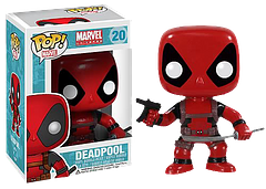 Deadpool Pop! Vinyl Figure 3.75″ - He may be small, and okay he may even be cute, but he's still deadly… well sort of. He's got a sword and an Uzi, but he might need some help getting down from the display shelf before he can inflict any serious damage. Be fun watching him try.