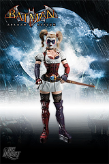 Harley Quinn Figure: Arkham Asylum - You want out of Arkham Asylum? You've gotta go through her.This is a sought after item, that's for sure. They never stay around long. This Harley Quinn Arkham Asylum 7