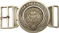Hunger Games Belt Buckle - Respresent your district with pride while wearing this licensed The Hunger Games District 12 Antique Belt Buckle. It's got the weight, it's got the look and it's got an entire district barracking for you. Volunteer for yours today.