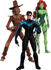 Batman Hush Figures 3-Pack - This truly well-designed Batman Hush: Poison Ivy, Nightwing and Scarecrow Action Figure 3-Pack is a boon to any Gotham City based collection.