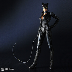 Catwoman Figure: Arkham City Play Arts - Catwoman totally shreds in this Batman – Arkham City – Catwoman Play Arts Figure from Square Enix.This 9