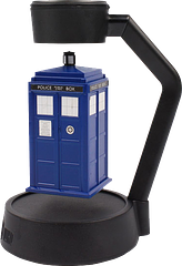 Doctor Who Spinning Tardis - This one is truly amazing. The Doctor Who Timelords Spinning Tardis has the Tardis suspended by magnetic force, in mid-air. It is awesome to behold. It can be powered by batteries or a DC adaptor (not included).