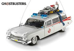 Ghostbusters Ecto-1: 1:18 Diecast - The 2013 release of the HotWheels, Ghostbusters and Mattel 1:18 scale Ecto-1 is here. Officially licensed by General Motors, this Diecast 14