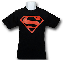 Superboy T-Shirt - The Superboy Red Symbol T-shirt is made from 100% cotton.Colour: Black