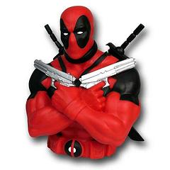 Deadpool Bust Bank - Think anyone has the guts to try to steal from the Deadpool Bust Bank. Yeah, Noooo! The Deadpool Bust Bank measures approximately 18cm (7