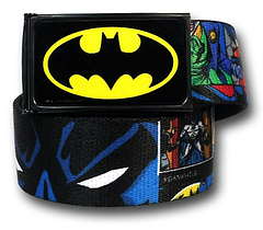 Batman Vs. Joker Belt: Comic Panel Web - The Batman Vs. Joker Comic Panel Web Belt is one size fits most. The belt can be adjusted to fit by cutting it to the required length.The children's size measures 2.54cm (1 inch) wide and 76.2cm (30 inches) long.  The adult's size measures 3.8cm (1.5 inches) wide and 121.9cm (48 inches) long.