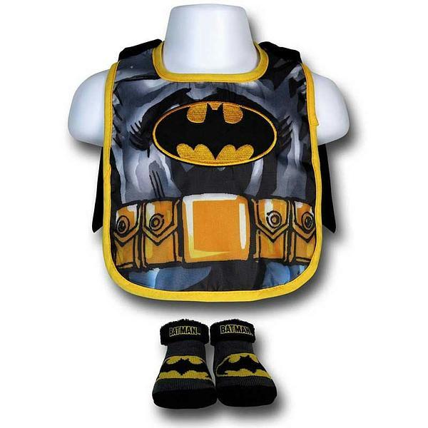 Batman Bib: with Cape & Booties