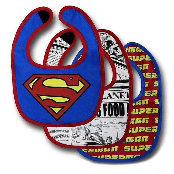 Superman Bib 3-Pack