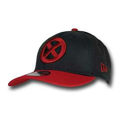 X-Men Cap: Symbol 39Thirty - A secret student at the School for Gifted Youngsters? The X-Men Symbol Red Bill Black 39Thirty Cap is made from 97% acrylic and 3% spandex, and it's very cool.Sizes (Men's):Small-Medium: 54.9cm to 57.7cmMedium-Large: 56.8cm to 60.6cmLarge-XLarge: 59.6 cm to 63.5