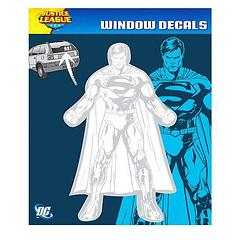 Superman New 52 Car Decal - The Superman New 52 Car Decal measures 21.6cm tall and 13cm wide.