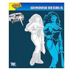 Wonder Woman Car Decal: New 52 - The Wonder Woman New 52 Car Decal measures approximately 20.5cm tall and 7.5cm wide.