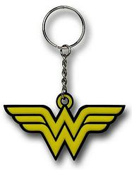 Wonder Woman Keyring: Symbol - The Wonder Woman Symbol Rubber Keyring measures 7cm across.