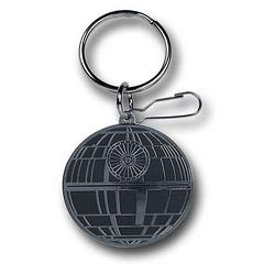 Death Star Enamel Keyring - The Star Wars Death Star Enamel Keyring measures aproximately 4.5cm across the diameter.