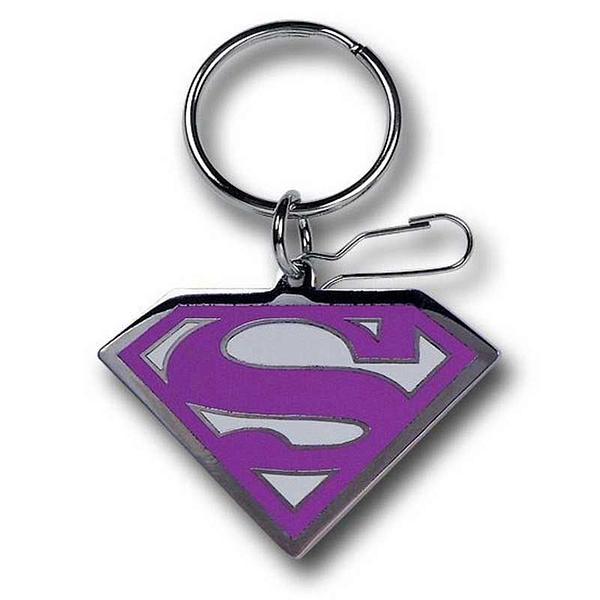 Supergirl Keyring: Pink Symbol